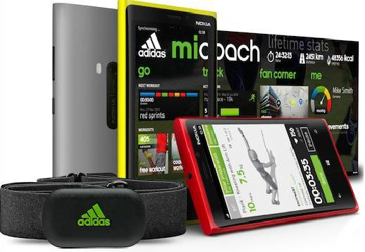 Micoach Windows Phone 8 с HRM