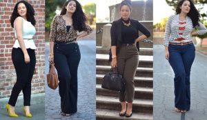 Модные брюки для полных