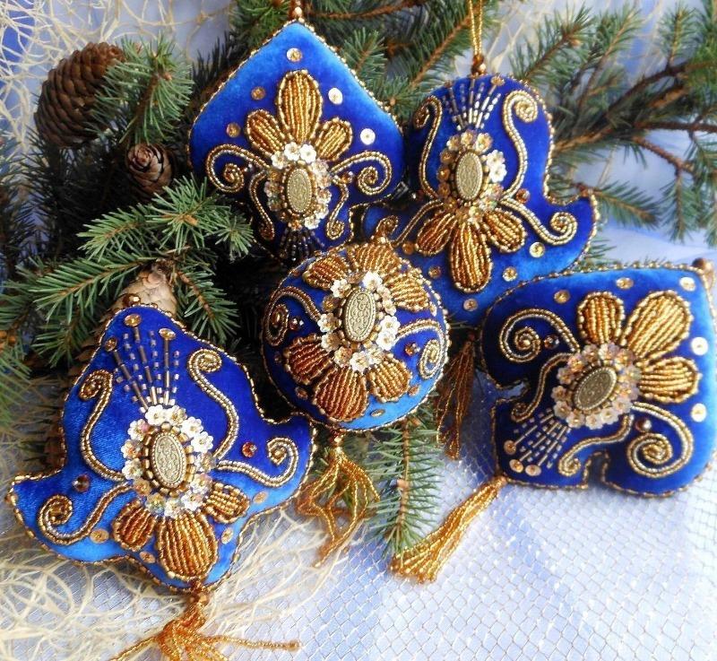 Игрушки в восточном стиле для украшения елки